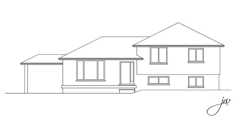 Side split with garage jw lipstick designs Side split house plans