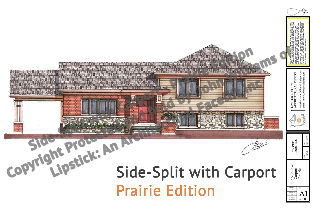 Side split with carport jw lipstick designs Side split house plans